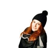 złotowłosy czerwone dziewczyny Zdjęcie Royalty Free