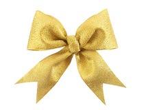 złoty łęku prezent Obrazy Royalty Free