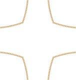 Złoty łańcuch Abstrakcjonistyczny kształt Obrazy Royalty Free