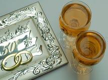 złoty ślub Zdjęcia Royalty Free
