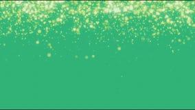 Złoty światło na zielonym tle zdjęcie wideo