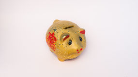 Złoty świniowaty chińskiego stylu oszczędzanie Obraz Royalty Free