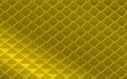 Złoty żółty kruszcowy abstrakcjonistyczny tło trójboki i kwadraty Zdjęcie Royalty Free