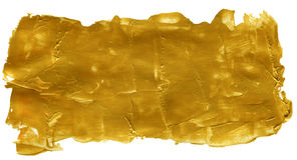 Złoty Abstrakcjonistyczny Akrylowy Malujący tło Obrazy Royalty Free
