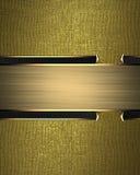 Złoty abstrakcjonistyczny projekta szablonu projekt Element dla projekta Szablon dla projekta odbitkowa przestrzeń dla reklamy br Zdjęcia Stock