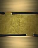 Złoty abstrakcjonistyczny projekta szablonu projekt Element dla projekta Szablon dla projekta odbitkowa przestrzeń dla reklamy br Zdjęcie Royalty Free