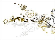 złoty abstrakcjonistyczny tło Fotografia Stock