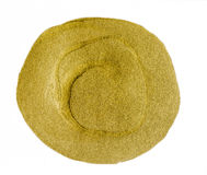 Złoty akrylowy okrąg Obraz Stock