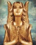 złoty anioł zdjęcia stock