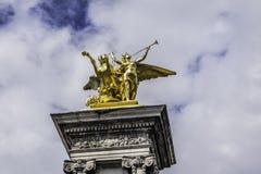 złoty anioł Fotografia Stock