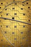Złoty architektura abstrakta tło Zdjęcia Royalty Free