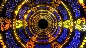 Złoty Błękitny ornament royalty ilustracja