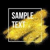 Złoty błyska brushstroke tło wektor Obrazy Stock