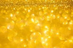 Złoty błyskotliwość bożych narodzeń abstrakta tło Obraz Royalty Free