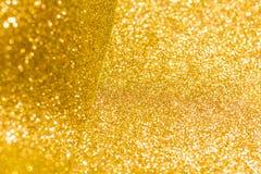 Złoty błyskotliwość bożych narodzeń abstrakta tło Fotografia Stock
