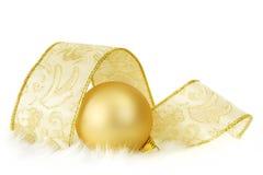złoty bauble faborek Fotografia Royalty Free