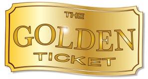 Złoty bilet royalty ilustracja