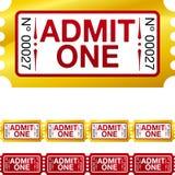 Złoty bilet Zdjęcia Royalty Free