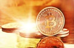 Złoty Bitcoins Zdjęcie Royalty Free