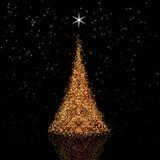 złoty Bożego Narodzenia drzewo Fotografia Royalty Free