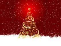 złoty Bożego Narodzenia drzewo Obrazy Stock