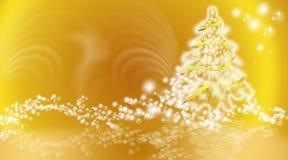 Złoty bożego narodzenia tło Zdjęcie Stock