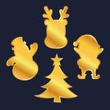 Złoty Bożenarodzeniowy dekoracja ornament Fotografia Royalty Free