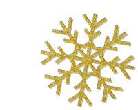 Złoty Bożenarodzeniowy płatek śniegu Obrazy Stock