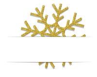 Złoty Bożenarodzeniowy płatek śniegu Zdjęcie Royalty Free