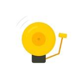 Złoty bokserski dzwon ilustracja wektor