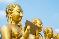 Złoty Buddha przy Buddha Pamiątkowym parkiem Obrazy Stock