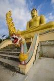 Złoty Buddha przy Phu Salao świątynią, Pakse, Laos Fotografia Royalty Free