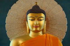 Złoty Buddha wśrodku Mahabodhi świątyni, Bodhgaya, Bihar, India Zdjęcie Royalty Free