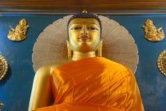 Złoty Buddha wśrodku Mahabodhi świątyni, Bodhgaya, Bihar, India Zdjęcia Royalty Free