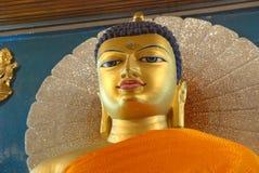 Złoty Buddha wśrodku Mahabodhi świątyni, Bodhgaya, Bihar, India Obraz Stock
