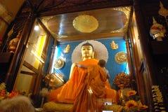 Złoty Buddha wśrodku Mahabodhi świątyni, Bodhgaya, Bihar, India Zdjęcie Stock