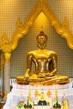 Złoty Buddha, Wat Trimit, Bangkok, Tajlandia Sławny dla swój gigiej Obrazy Stock