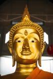 Złoty Buddha wizerunek w Bangkok, Tajlandia fotografia stock
