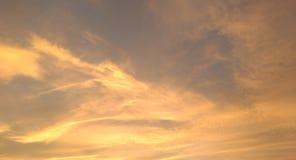 złoty chmury obraz stock