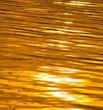 złoty cieczy Fotografia Stock