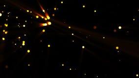 Złoty cząsteczki tło zdjęcie wideo