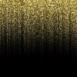 Złoty cząsteczki tło Zdjęcia Royalty Free