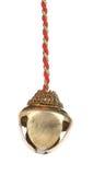Złoty dźwięczenie dzwon na arkanie. Fotografia Royalty Free