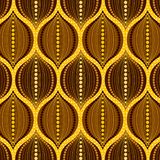 Złoty dekorujący cyma bezszwowy wzór ilustracji