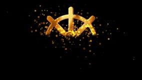 Złoty dharmachakra, buddhism religijny symbol na przejrzystym tle royalty ilustracja