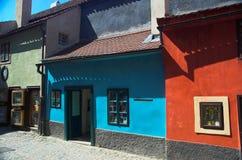 złoty domów lane Prague obrazy stock