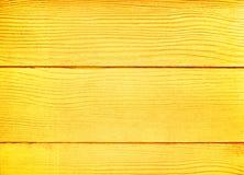 Złoty drewniany tło, pusta deski ściany tekstura w horyzontalnej linii wzorach fotografia royalty free