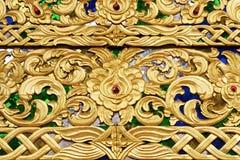 Złoty drewno rzeźbi Zdjęcia Royalty Free