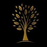 Złoty drzewny pojęcie VIP ilustracja wektor