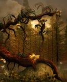 Złoty drzewo ilustracja wektor